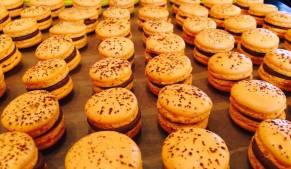 Macarons ganache chocolat passion