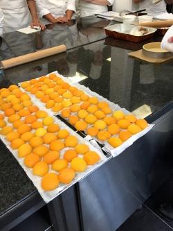 Egouttage des abricots